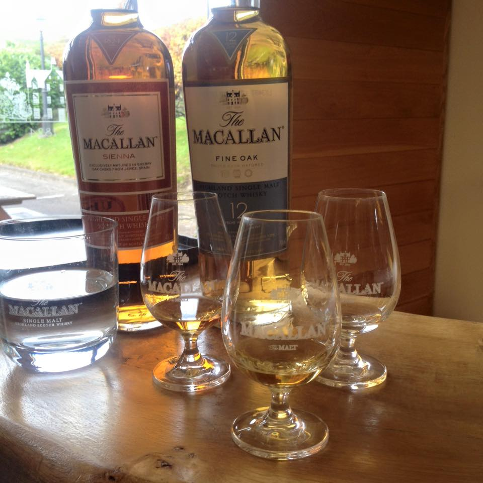 Macallan Sienna and Fine Oak Whisky