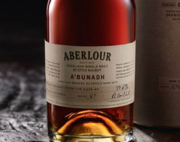 A bottle of Abunach from Aberlour Distillery, Speyside
