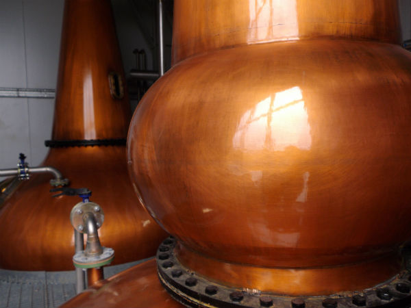 The stills inside the Adelphi Ardnamurchan distillery