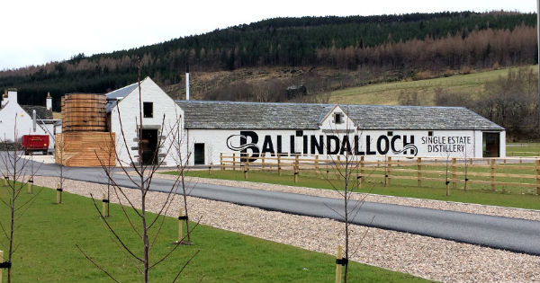 Ballindalloch Distillery in Speyside, small, clean and neat