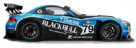 Black Bull racing car