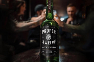 Bottle of Proper 12 irish whiskey