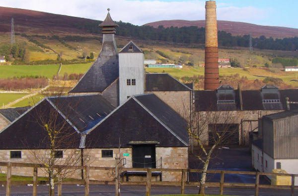 Brora Distillery one of many whisky distileries on the east of Scotland