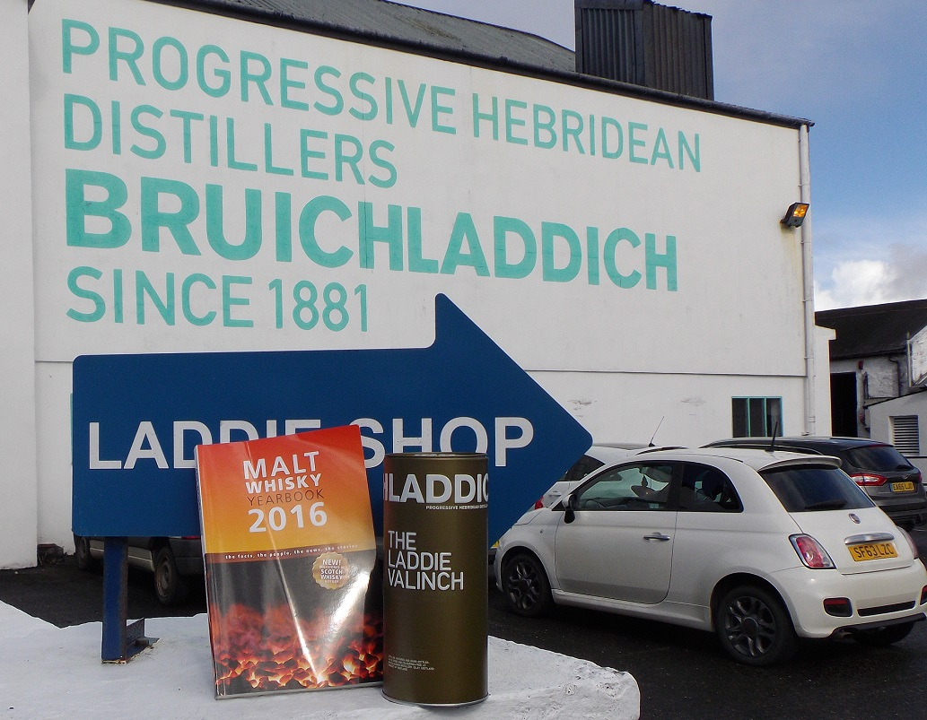 Ingvar Ronde's Malt whisky yearbook on tour with us at Bruichladdich Distillery