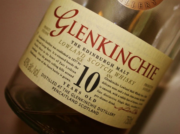 A lovely bottle from Glenkinchie Distillery