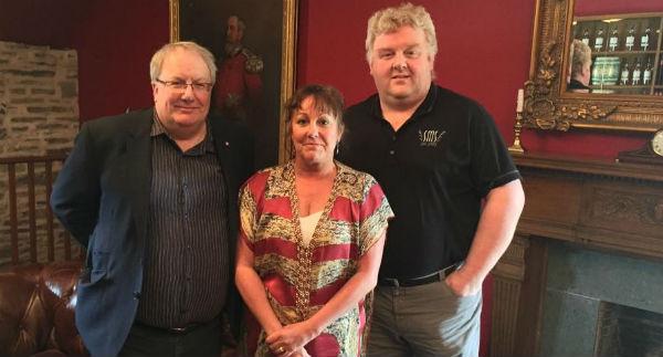 Liz and Paul with Ian Logan, Global Ambassador at Glenlivet Distillery