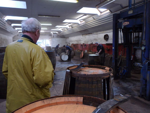 Coopers working on site at The Glenrothes Distillery