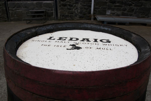 Ledaig cask at Tobermory Distillery on Mull