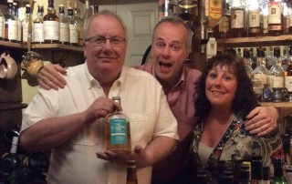 Paul Ingvar Ronde and Liz share a few drams