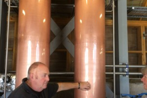 Reay here at the condensers at Drimnin distillery