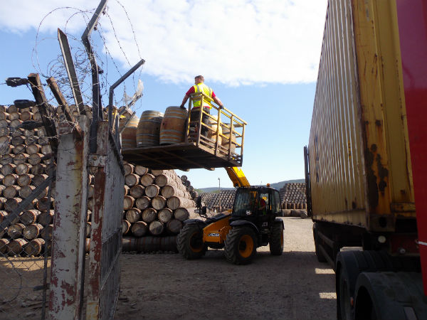 a delivery of Chardonay casks to Speyside in June Scotland