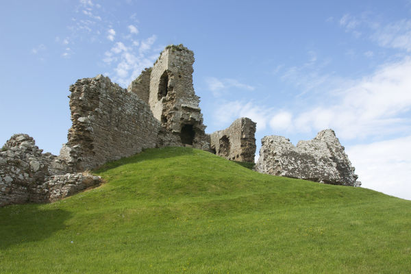 a nice day to visit Duffus castle near Elgin on Speyside