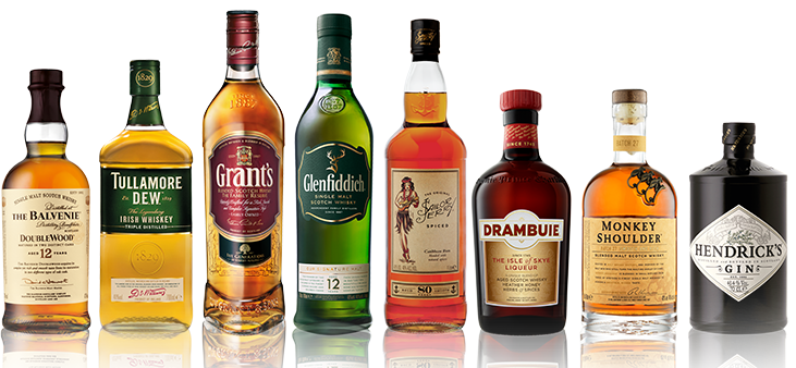 glenfiddich and grant range