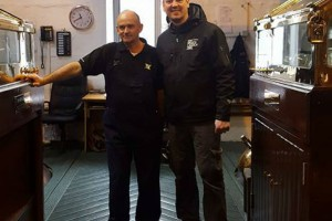 our blogger John Mcdougall at Bruichladdich - the big fella