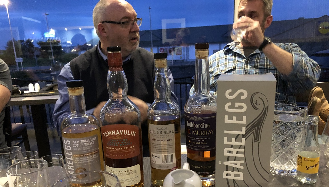 Vic Cameron taking a whisky tasting for mcleanscotland