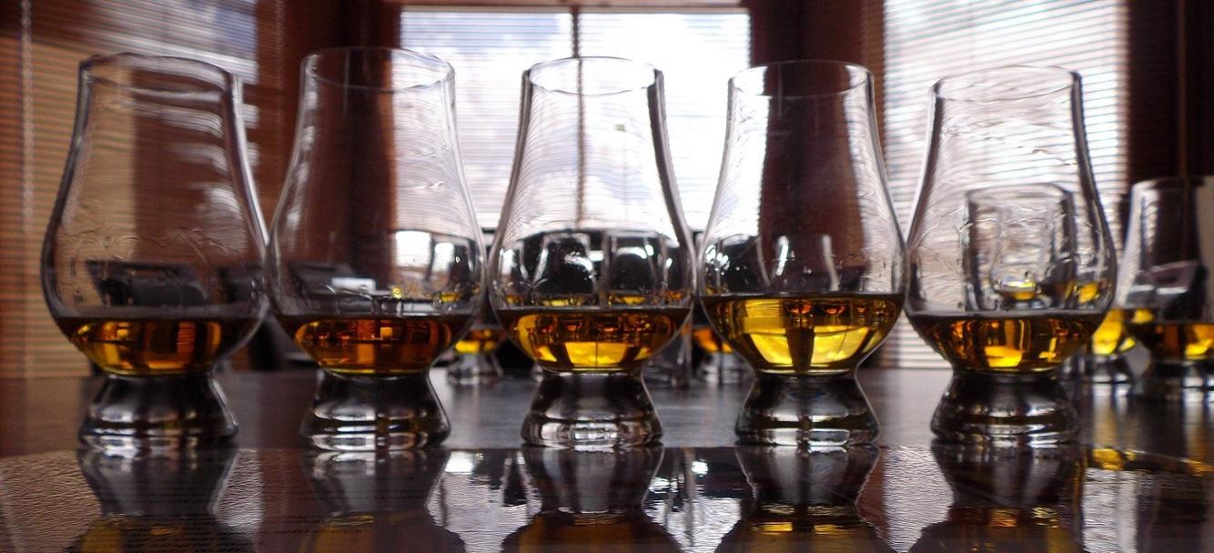 whisky glasses full of lovely scottish whisky