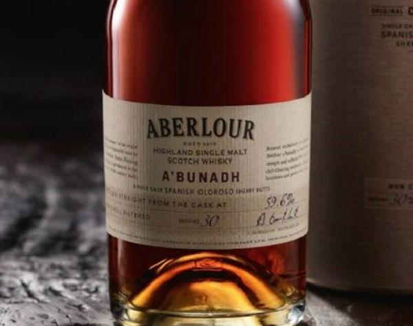 A bottle of Abunach from Aberlour Distillery, Speyside