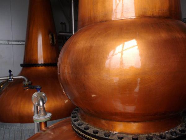 The stills inside the Adelphi Ardnamurchan distillery