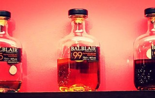 Balblair whisky bottles
