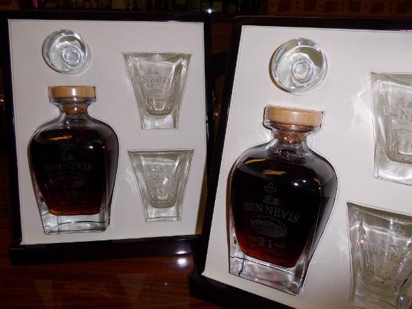 Sample drams at Ben Nevis Distillery