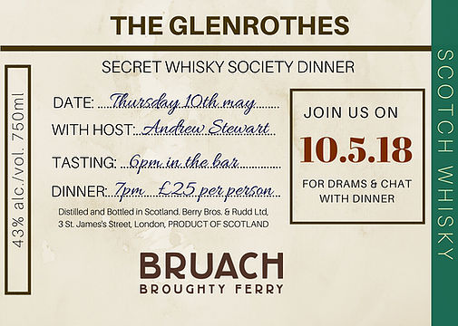 Bruach Whisky Dinner