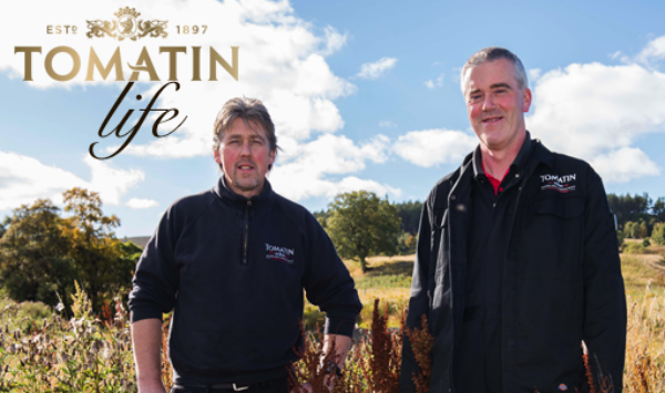 Evan and Ally from Tomatin whisky distillery Scotland