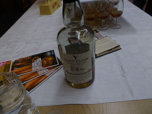 Sampling a dram of Glen Elgin 12 year old at Glen Elgin Distillery