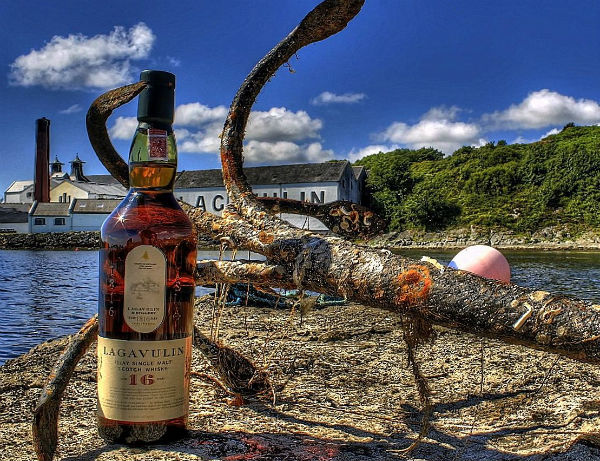 Lagavulin Distillery on the island of Islay, west coast of Scotland