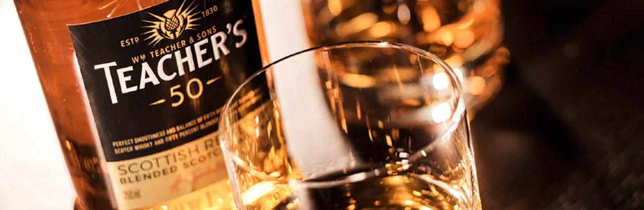 Teachers 50 whisky bottle