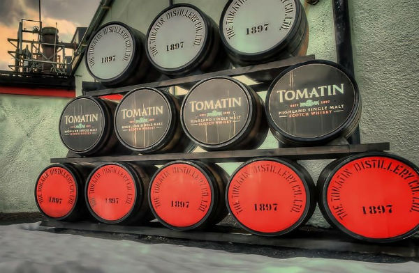 Tomatin Distilllery south of Inverness