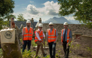 buildings starts at the new whisky distillery on Raasay near Skye