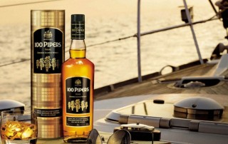 pipers bottle of whisky