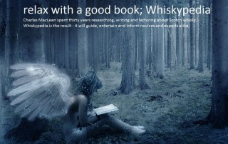 Whisky angel reading whiskipedia by Charles Mclean